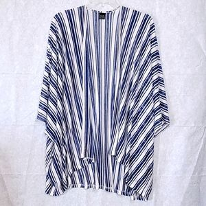 Boutique Striped Knit Kimono